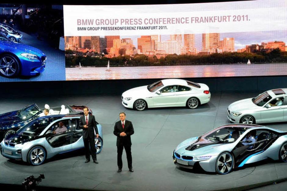 BMW stellt auf der IAA die Konzeptfahrzeuge BMW i3 Concept und i8 Concept vor. (Foto: AFP)