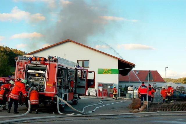 Brand im ZG-Markt – 50.000 Euro Schaden