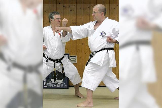Weiter hinauf auf der Karateleiter