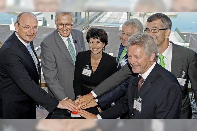 Wasserkraft voraus in Rheinfelden