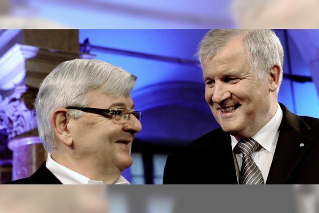 Horst Seehofer und Joschka Fischer Seite an Seite