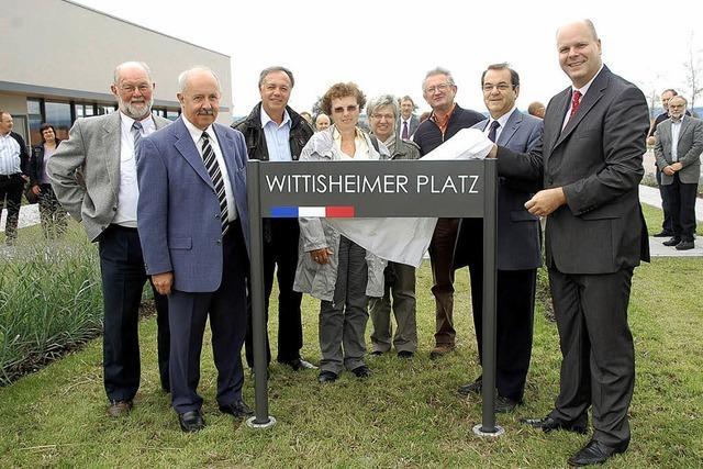 Wittisheimer Platz eingeweiht