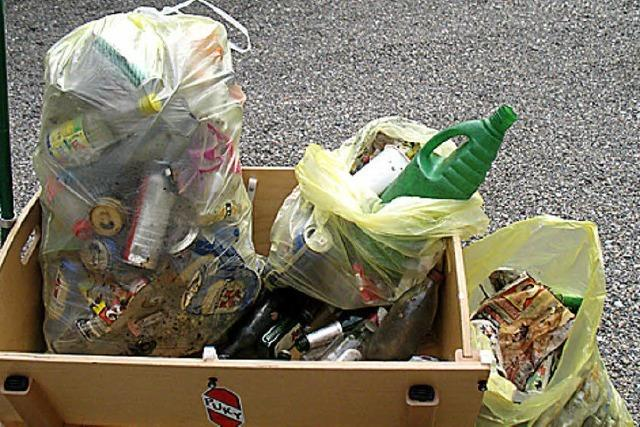 Jede Menge Müll entlang der Straße im Nonnenholz