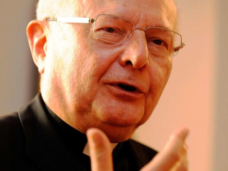 Robert Zollitsch: Papst wird einiges zu Martin Luther sagen.  | Foto: dpa