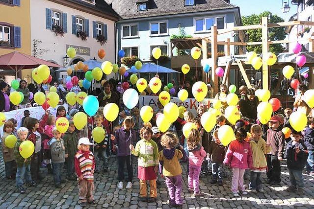 Luftballons als Gruß