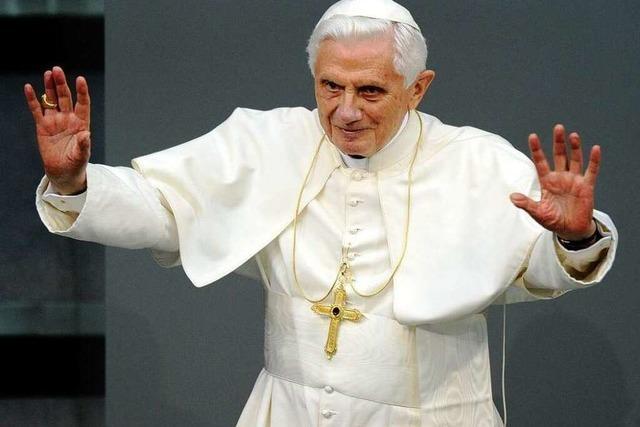 Rede im Bundestag: Benedikt XVI. lobt Öko-Bewegung