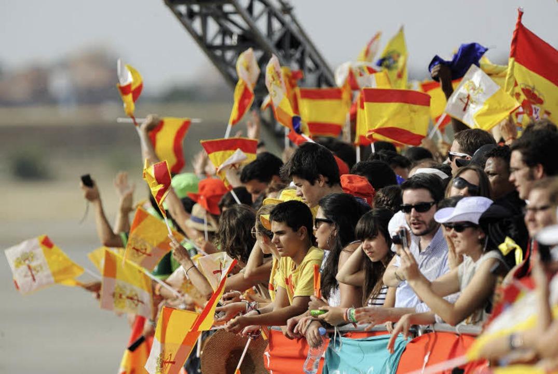 Ihr Idol ist der Papst: Gäste  beim   Weltjugendtag in Spanien  | Foto: AFP ImageForum