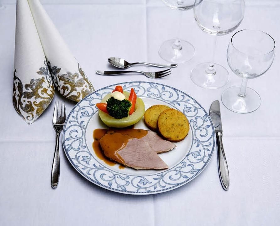 Das speist der Papst: Tafelspitz mit Gemüse und Macairekartoffeln  | Foto: Michael Wissing