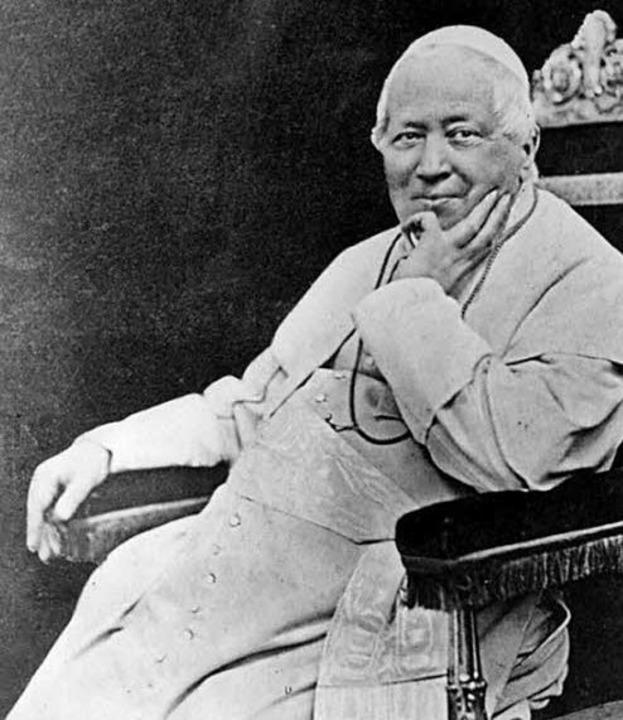 Er berief das Erste Vatikanische Konzil ein: Papst Pius IX.    | Foto: BZ