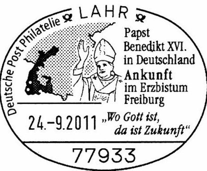 Der Lahrer Sonderstempel  | Foto: Privat