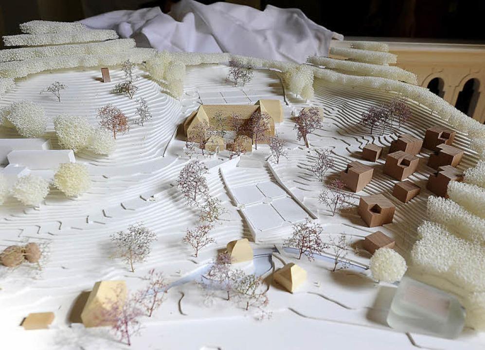 Das Architekturmodell für den Umbau des ehemaligen Klosters.  | Foto: Ingo Schneider