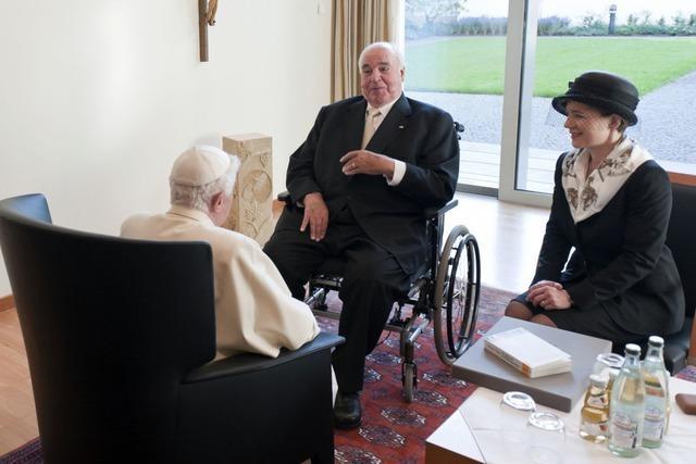 Papst trifft Orthodoxe, katholische Laien und Altkanzler Kohl