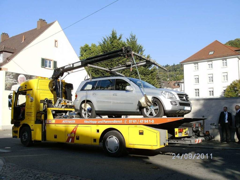 Das Auto ist fahrtüchtig. Die Familie ...t trotz des kleinen Malheurs antreten.  | Foto: Sonja Hohmann