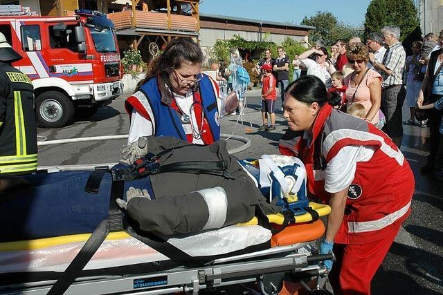 Haus gelöscht, verletzte Puppe wohlbehalten gerettet