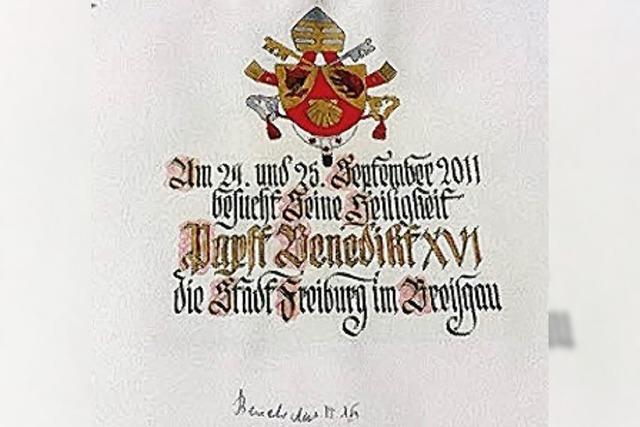 Freiburg erwärmt den Papst