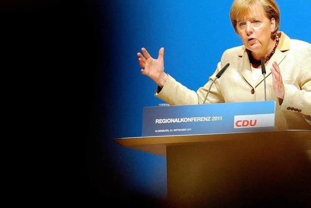 Merkel will harte Euro-Stabilitätsvorgaben