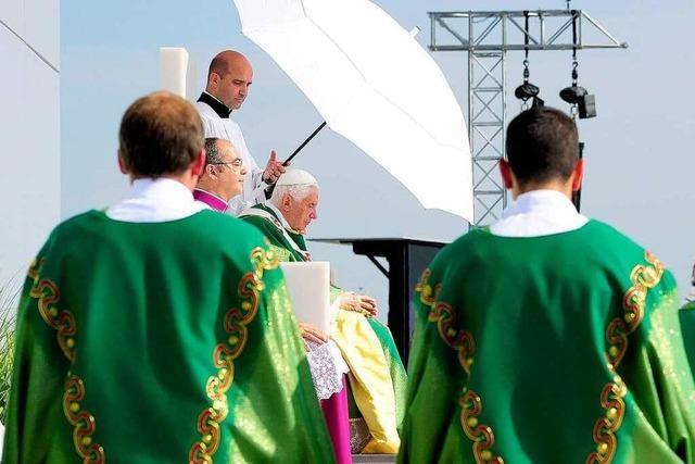 Nach dem Papstbesuch wird das Gottesdienstareal zurückgebaut