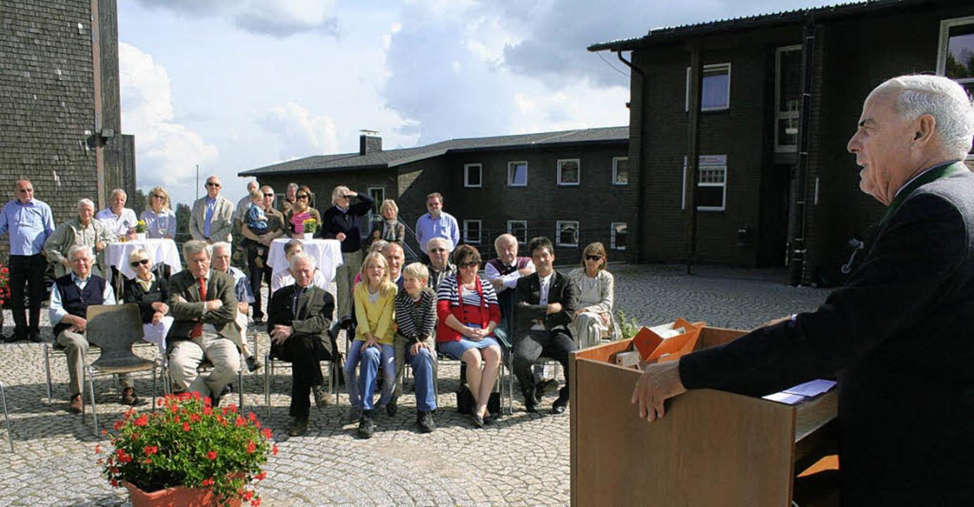 BSB-Präsident Gundolf Fleischer konnte...eistungszentrum Herzogenhorn begrüßen.  | Foto: Dieter Maurer
