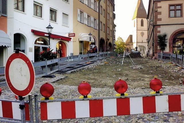 Marktplatz wird wieder zur Baustelle