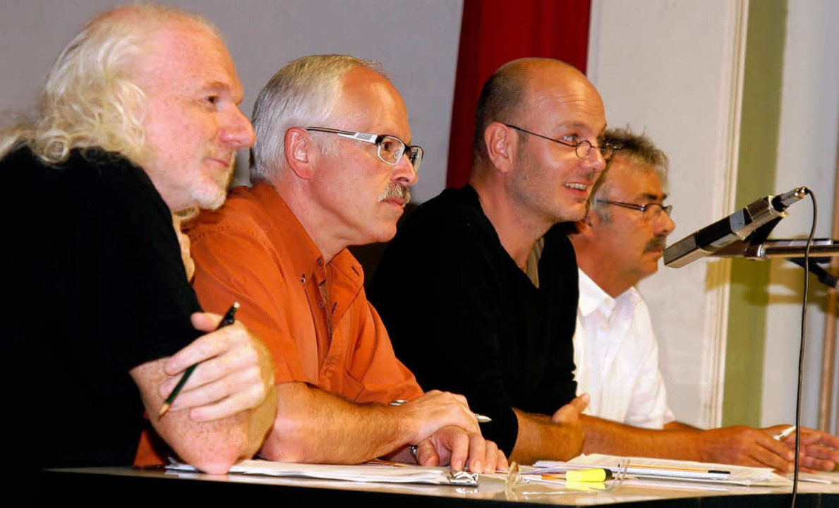 Initiatoren der Initiative pro Ortscha...tmann, Jochen Meier und  Peter Stöckle    Foto: Heidi Foessel