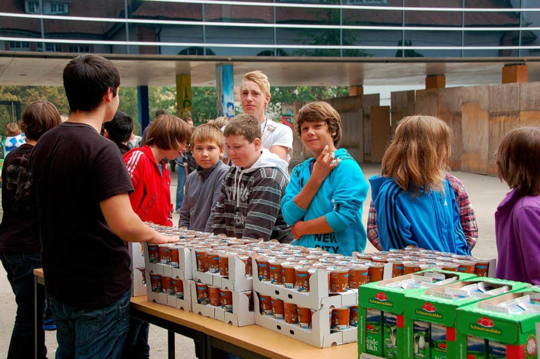 Schulmilch an der Markgrafen-Schule: D...'s am Weltschulmilchtag umsonst.