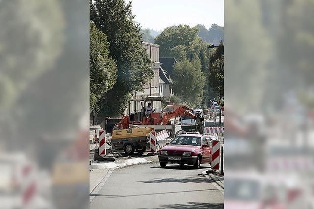 Goethestraße eine Woche voll gesperrt