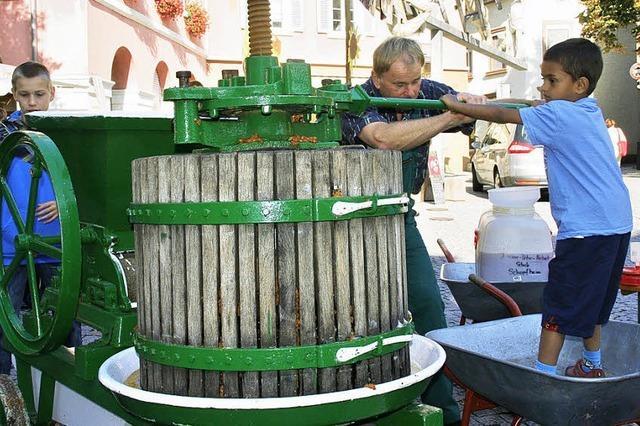 Apfelsaftaktion hat eine lange Tradition