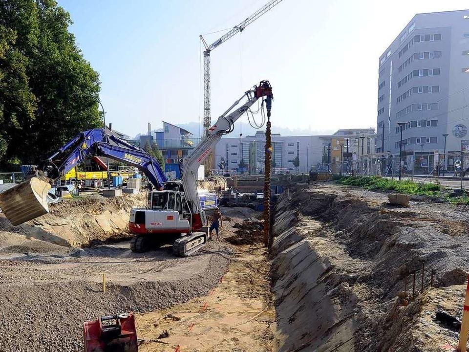 Die Bebauung des Einganggeländes im Stadtteil Vauban hat schon begonnen.  | Foto: Ingo Schneider