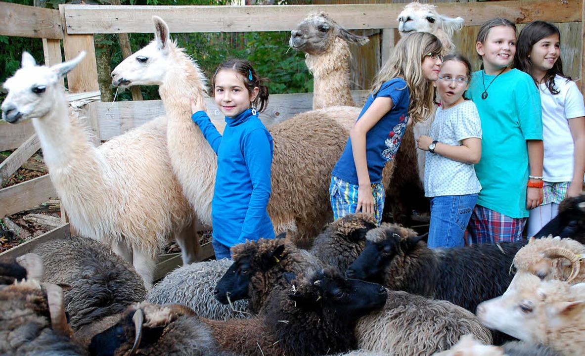 Viele Kinder besuchten die Lesepremier...amastall von Uwe Braun in  Fahrnbuck.     Foto: Steinfelder