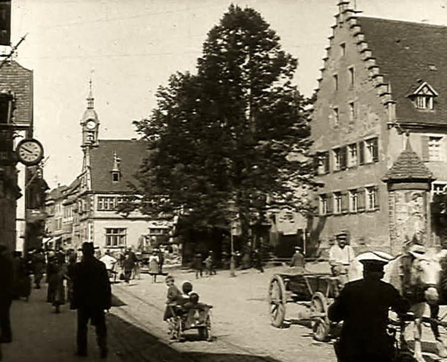 """Der Urteilsplatz von 1919. Dieses Bild... Die Geschichte"""" zu sehen sind.     Foto: Stadt"""