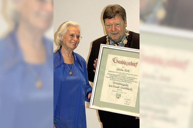 Gisela Sick ist neue Waldkircher Ehrenbürgerin