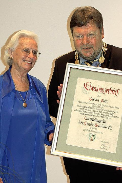 Gisela Sick ist neue Waldkircher Ehrenbürgerin - Waldkirch