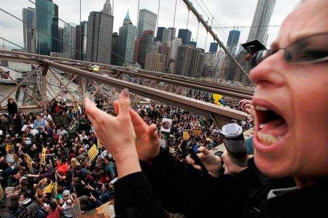 Protestbewegung gegen die Finanzwirtschaft wächst
