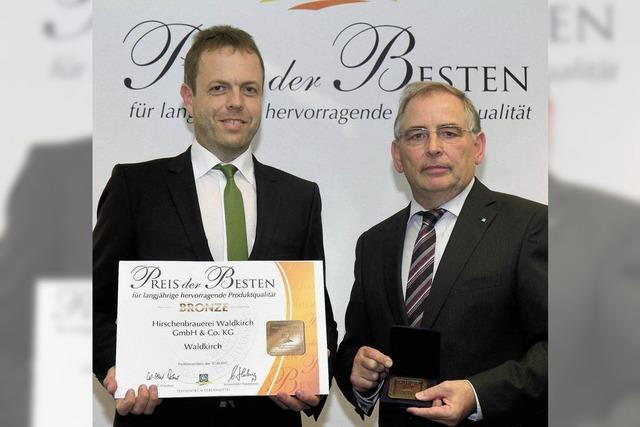 Preis für Bier aus Waldkirch