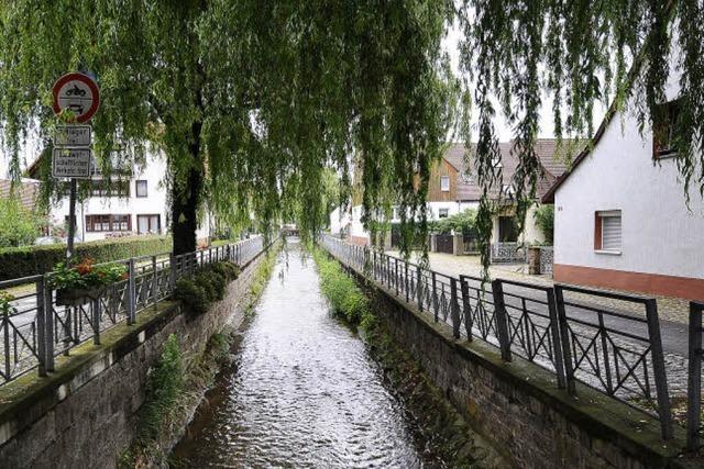 Der Dorfbach als Wasserstraße