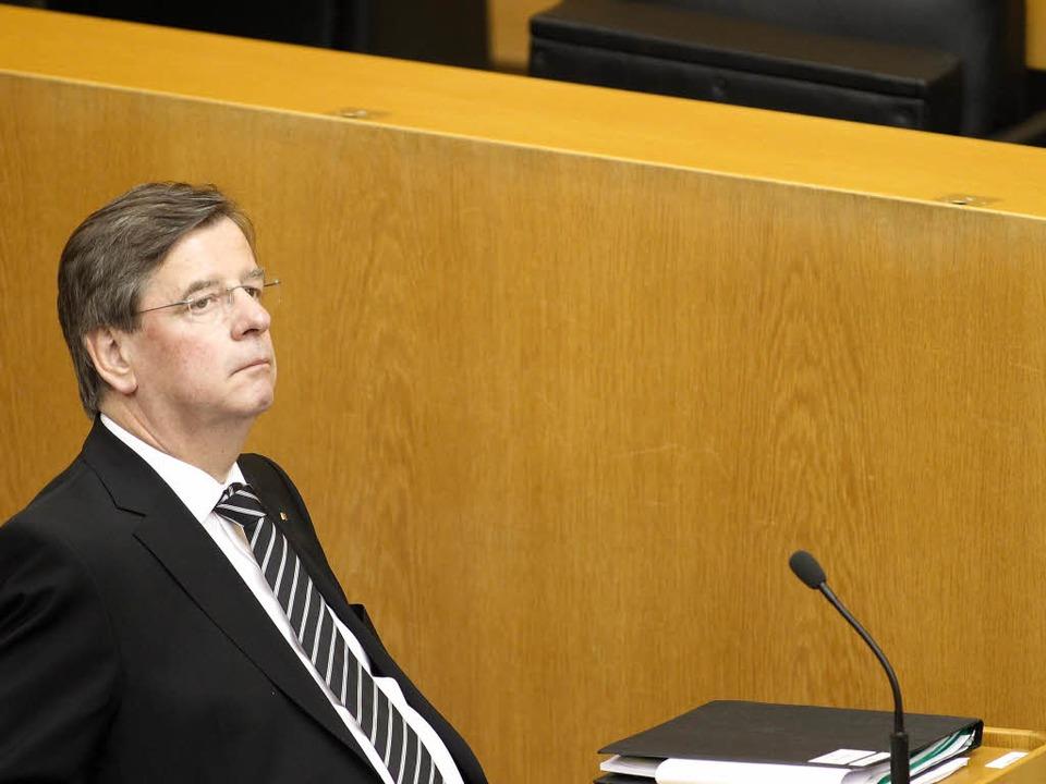 Nach dem EnBW-Urteil unter Druck: Ex-F...ndtagspräsident  Willi Stächele (CDU).