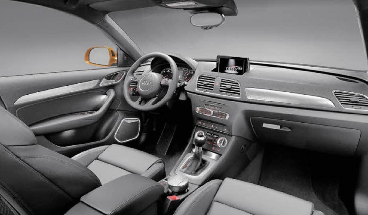 Audi pflegt auch in der kompakten SUV-...e Kompromisse bei Optik und Qualität.   | Foto: werksfotos