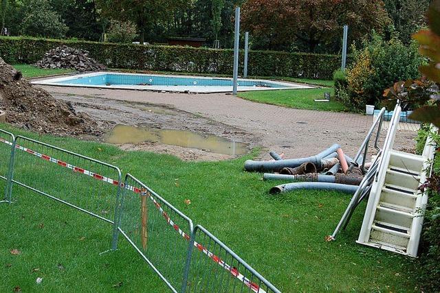 Umbau des Panoramabads läuft