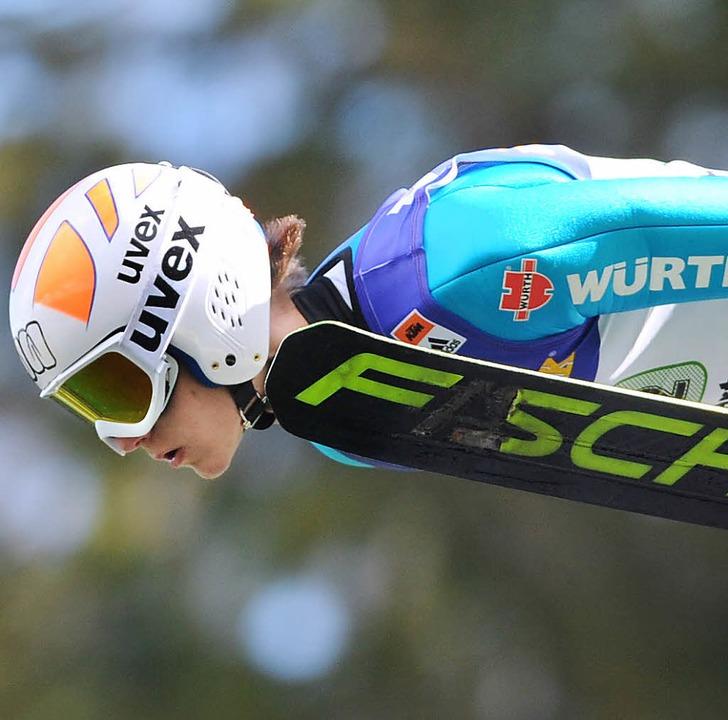 Lockerer Flieger: Niklas Wangler von d...en und gewann im Teamspringen Silber.   | Foto: seeger
