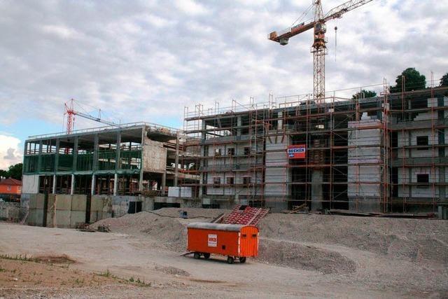 Bauarbeiten für das Areal