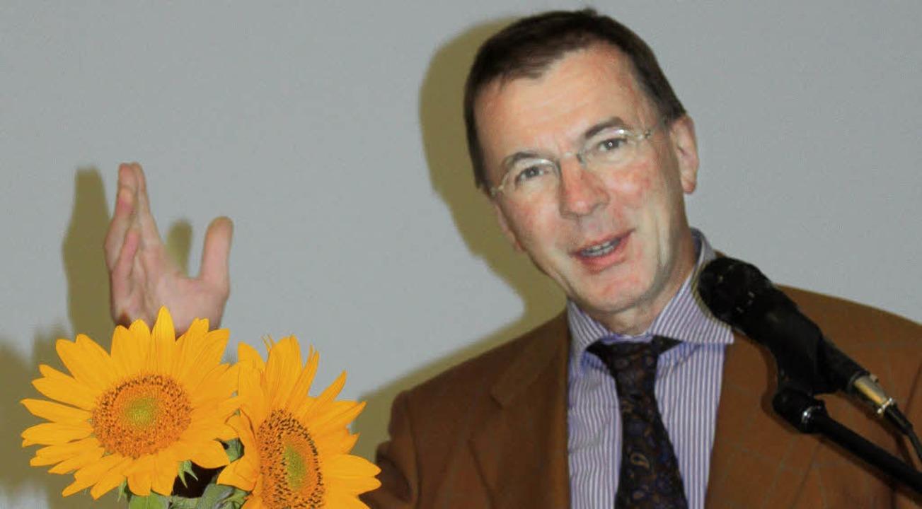 Der Freiburger Professor für Moraltheo... und sprach hier über den Klimawandel.