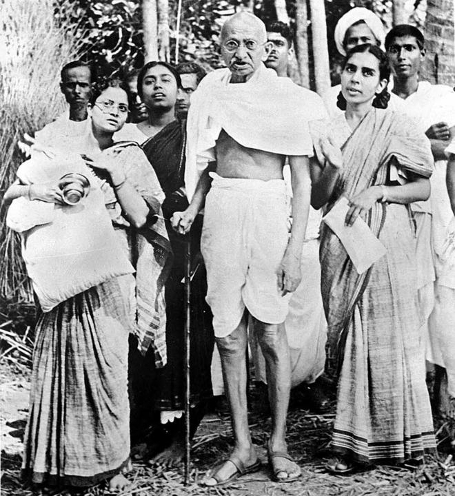 Asketischer Kämpfer: Mahatma Gandhi 1946   | Foto: afp