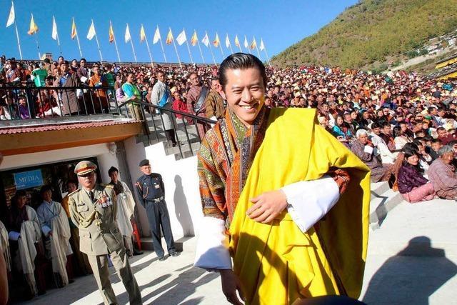 Bhutans Drache unter der Haube