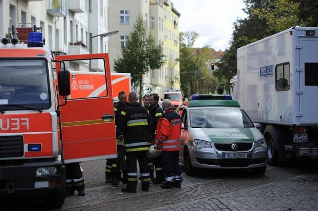 Berliner Polizei entdeckt explodierten Brandsatz