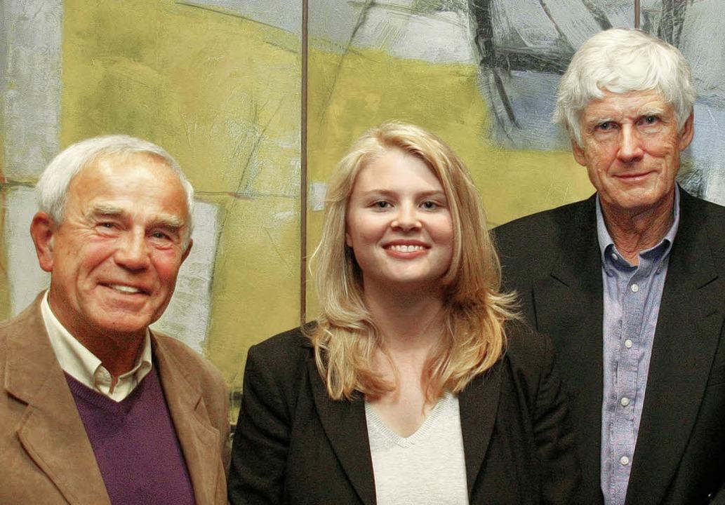 Diskutierten über das Thema Klimaschut...nd  Professor  Horst-Joachim Lüdecke.   | Foto: Privat