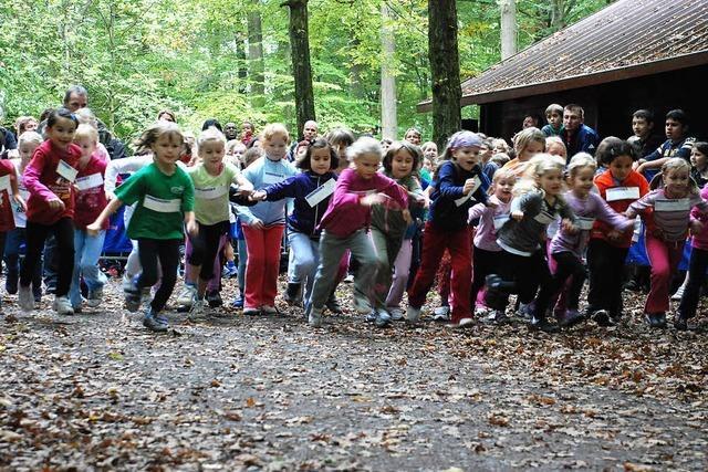 1000 Schüler laufen im Wald
