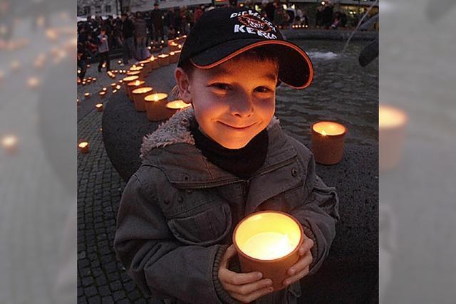 Lichter der Hoffnung auf dem Domplatz