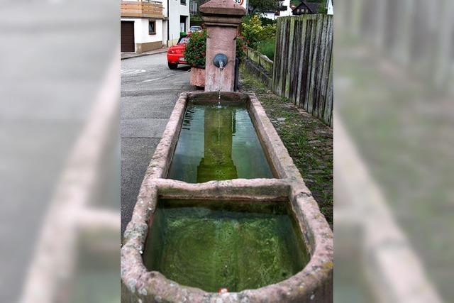 Die Dorfbrunnen sind vorerst trocken gelegt