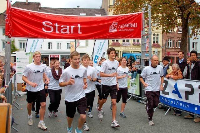 Schüler laufen 700 Kilometer von Lörrach nach Venedig
