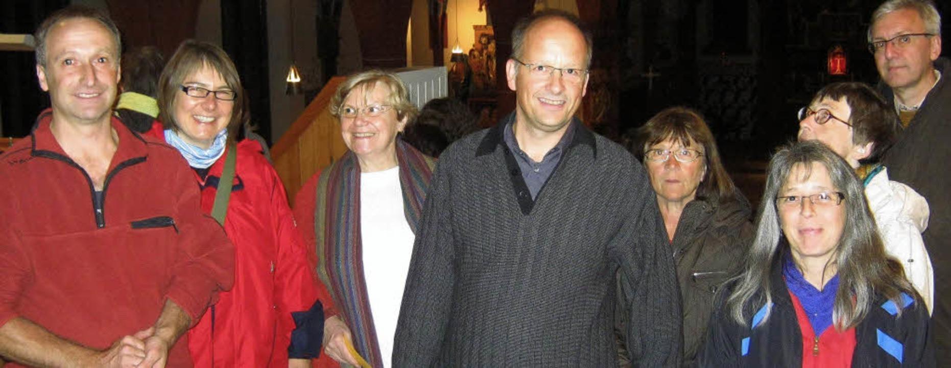 Viel Interessantes vermittelten Christ...r Führung durch die Kirche St. Georg.   | Foto: Anne Freyer(2)/Andrea gallien